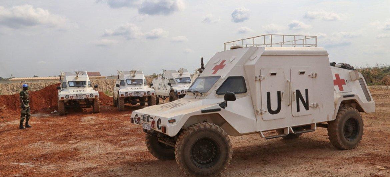 Fuerzas de paz en la República Centroafricana. Foto de archivo: ONU/Nektarios Markogiannis