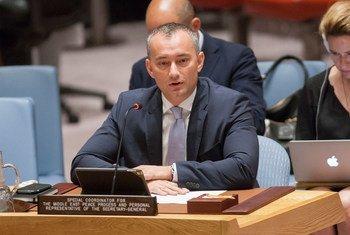 Nickolay Mladenov, coordinadore especial para el Proceso de Paz en Medio Oriente, en el Consejo de Seguridad de la ONU. Foto de archivo: ONU/Loey Felipe