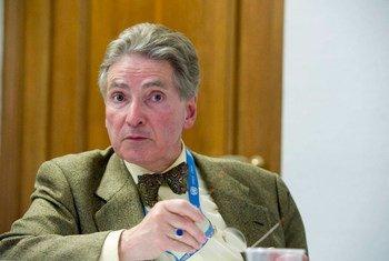 联合国关于促进民主与公平国际秩序独立专家萨亚斯。联合国图片/Violaine Martin