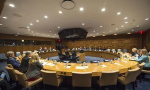 A wide view of a meeting of the representatives of Middle East Quartet (namely, the UN, the United States, the Russian Federation and the European Union).