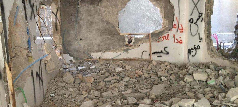 La maison d'une famille palestinienne en Cisjordanie démolie par les autorités israéliennes le 4 juillet 2016. Photo UNRWA