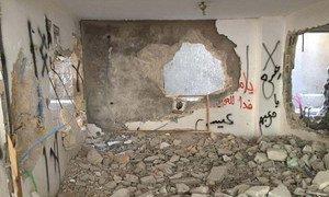 约旦河西岸一处遭到以色列政府拆除的巴勒斯坦人房屋。(2016年7月图片)