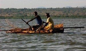 Kenyan fishermen on Lake Victoria use special nets to conserve dwindling fish stock.