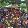 مفوضية اللاجئين وشركائها يسجلون اللاجئين الجدد القادمين من جمهورية أفريقيا الوسطى في قرية ميني، تشاد، واحدة من المواقع الثلاثة بالقرب من الحدود التي استضافت الوافدين الجدد. UNHCR/Victorien Ndakass