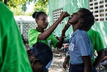 Campaña de vacunación de la OMS contra el cólera en Haití.
