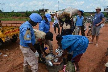 La UNMISS provee protección a los civiles que huyen de la violencia en Wau. Foto de archivo: UNMISS