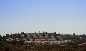 Asentamiento israelí de Halamish, en Cisjordania. Foto: UNICEF/Mouhssine Ennaimi