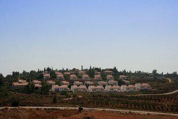 Halamish, une colonie israélienne, au nord de la Cisjordanie, près du village palestinien de Nabih Saleh (photo d'archives).