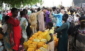On 14 July 2016, UNICEF using eight tankers, delivered 100,000 litres of water to IDPs in Juba, South Sudan.
