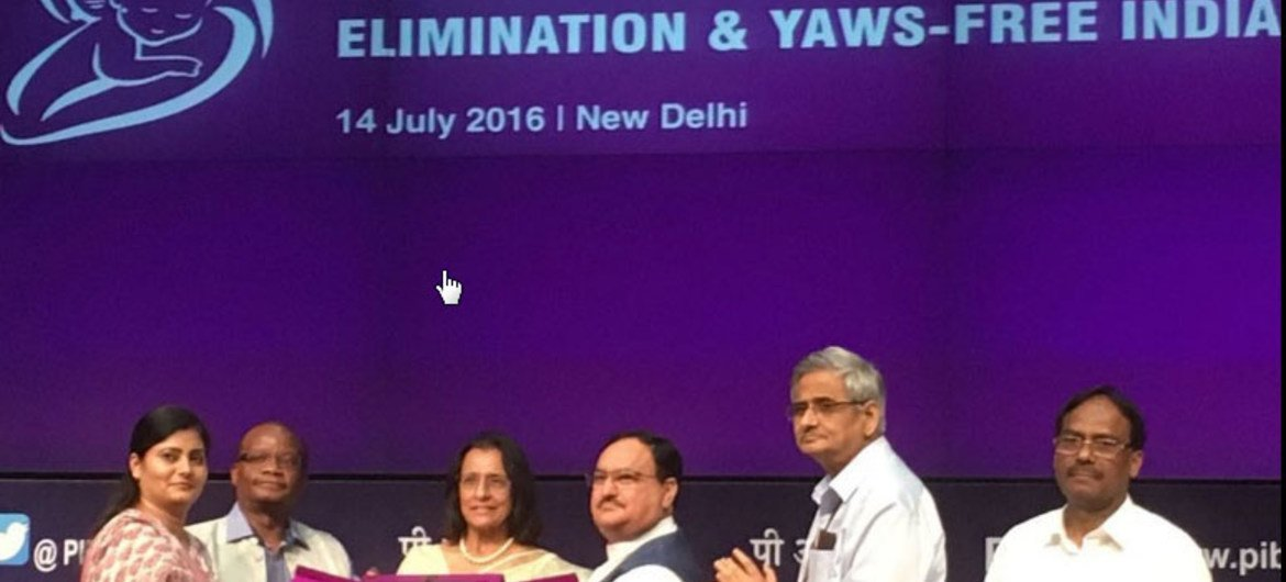 World Health Organization (WHO) certifies India for eliminating yaws and maternal and neonatal tetanus.