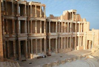 Site archéologique de Sabratha, en Libye.