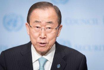 Le Secrétaire général Ban Ki-moon. Photo ONU/Mark Garten (archives)