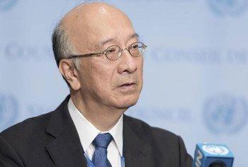 السفير الياباني كورو بيشو، رئيس مجلس الأمن لشهر ديسمبر - المصدر: الأمم المتحدة / مارك غارتن