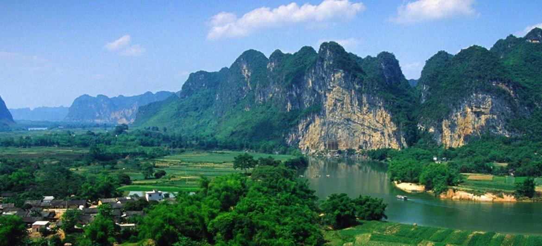Zuojiang Huashan Rock Art Cultural Landscape: Typical Tablelands in Zuojiang River Basin, China.