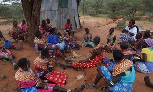 Women from Samburu, Kenya, gather for a public discussions where they publicly say no to female genital mutilation.