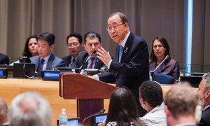 Secretary-General Ban Ki-moon addresses the Ministerial Segment of the ECOSOC High-level Political Forum on Sustainable Development.