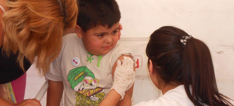 Vacunación contra la hepatitis B en Argentina.