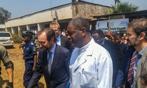 United Nations High Commissioner for Human Rights, Zeid Ra'ad Al Hussein (left), arrived in Democratic Republic of the Congo, with on his right Dr. Denis Mukwege. Photo/ MONUSCO
