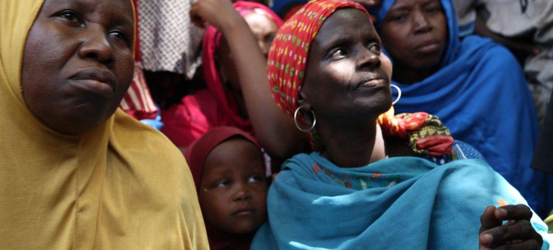 Mujeres desplazadas en Borno, Nigeria, por la violencia de Boko Haram. Foto de archivo: OCHA/Jaspreet Kindra