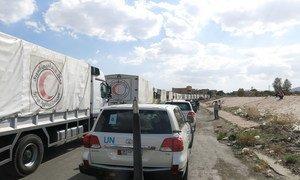 Aid convoy heads to Douma, Syria