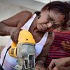 Women on the job at a workshop in the Dominican Republic.