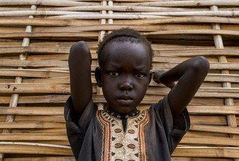 Niño en Sudán del Sur, donde el conflicto ha agudizado la inseguridad alimentaria. Foto: ONU/JC McIlwaine