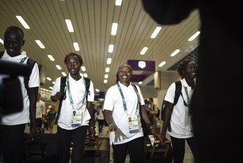 Integrantes del Equipo Olímpico de Refugiados en los Juegos de Río de Janeiro. Foto: ACNUR/Benjamin Loyseau