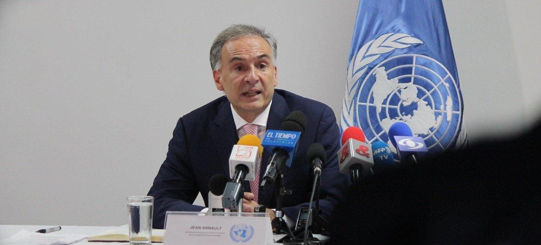 ARCHIVO: Jean Arnault,ex jefe de la Misión de la ONU en Colombia. Foto de archivo: UNIC Bogotá