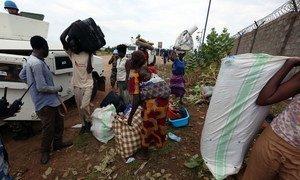 内部流离失所者在7月暴力冲突中在联合国保护平民营地寻求庇护。联合国南苏丹特派团/Eric Kanalstein