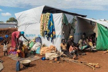 Familias desplazadas por la violencia en Sudán del Sur. Foto: UNICEF/UN027532/Ohanesian