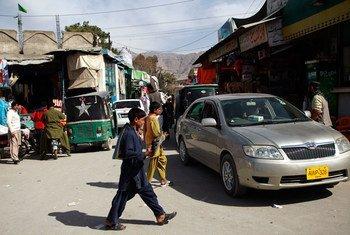 Una calle en Quetta, la capital de la provincia paquistaní de Baluchistán. Foto: UNICEF/Asad Zaidi