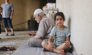 On 5 August 2016 displaced families take shelter at the Teshreen Kindergarten in western Aleppo city, Syria, which has just opened its doors to accept displaced families after the latest wave of attacks.