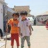 Familias sirias refugiadas en una mezquita. Foto: UNICEF/Khuder Al-Issa