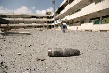 Informe menciona congelamento na reconstrução de Gaza.