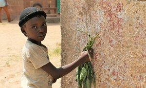 A young girl in Bangui, the capital city of the Central African Republic (CAR).