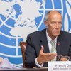WIPO Director General Francis Gurry presents the Global Innovation Index 2016 at a press conference at the United Nations Office at Geneva