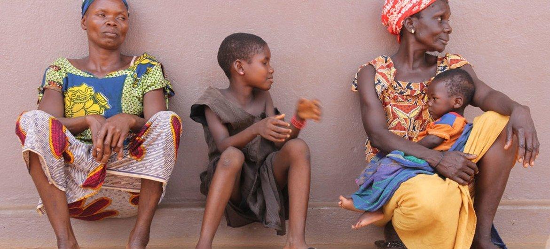 Des habitants de Bambari, en République centrafricaine.