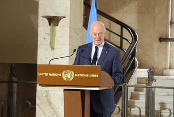 Staffan de Mistura, enviado especial de la ONU para Siria. Foto de archivo: ONU Ginebra