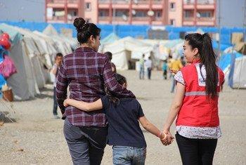Ciudadanos sirios en el campo de reugiados de Islahiye, Turquía. Foto: UNICEF/Ayberk Yurtsever