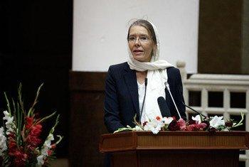 La Représentante spéciale adjointe du Secrétaire général pour l'Afghanistan, Pernille Kardel. Photo MANUA/Fardin Waezi