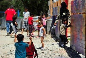Refugiados en el centro de acogida Kara Tepe, en la isla de Lesbos, Grecia.