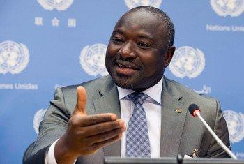 Le Secrétaire exécutif de l'Organisation du Traité pour l'interdiction complète des essais nucléaires (OTICE), Lassina Zerbo. Photo ONU/Eskinder Debebe