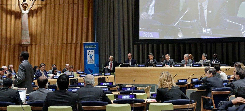 Réunion informelle de l'Assemblée générale des Nations Unies marquant la Journée internationale contre les essais nucléaires. Photo ONU/Evan Schneider
