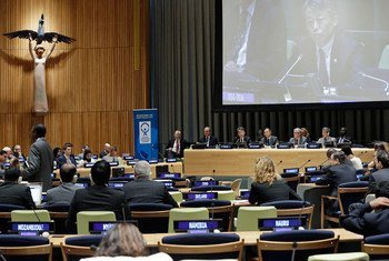 A view of the General Assembly informal plenary meeting in observance of the International Day against Nuclear Tests (29 August).