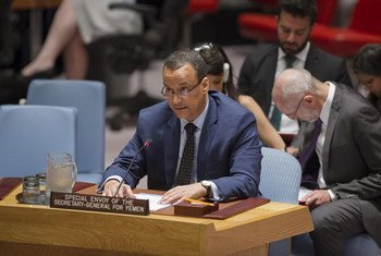 L'Envoyé spécial du Secrétaire général pour le Yémen, Ismail Ould Cheikh Ahmed, devant le Conseil de sécurité fin août 2016. Photo ONU/Rick Bajornas