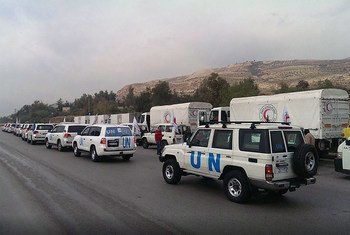 Convoyes con ayuda humanitaria en Siria. Foto de archivo: OCHA/G. Seifo