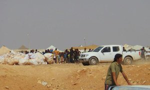 In August 2016, UN agencies provided urgent food items to 75,000 Syrians at the border with Jordan where conditions are very harsh. Jordan sealed the berm area in mid-2016 following an attack at a border post.