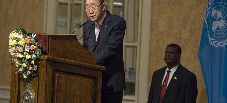 "Secretary General Ban Ki-moon addresses event in Sri Lanka on ""Sustaining Peace – Achieving Sustainable Development Goals."""