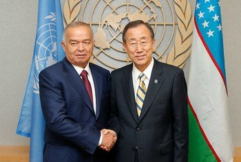 Secretary-General Ban Ki-moon  has met several times with Islam Karimov, President of the Republic of Uzbekistan. Here they are pictured in September of 2010.