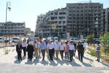 صورة أرشيفية: وكيل الأمين العام للشؤون الإنسانية ستيفن أوبراين في سوريا. الصورة: OCHA/SARC/Abdulaziz Al-Droubi